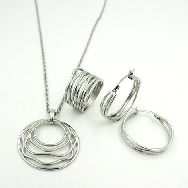 steel jewelry set
