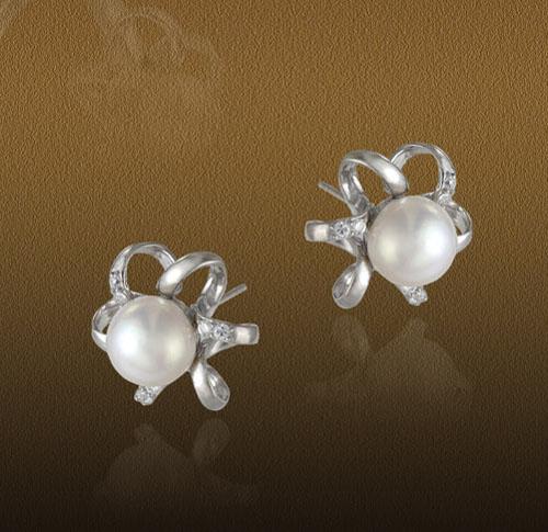 Pearl Jewelry with Diamond