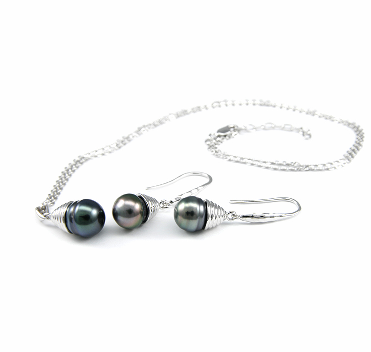 Classic Tahitian Pearl Earring / Necklace