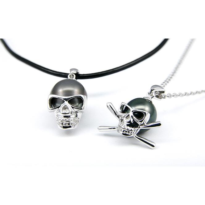 Skull Tahitian Pearl Necklace / Pendant