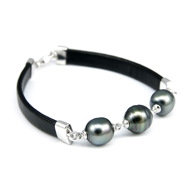 Tahitian Pearl Leather Bracelet