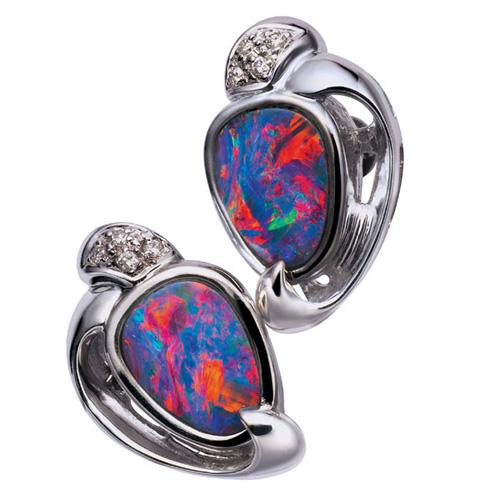 Doublet Opal Earring