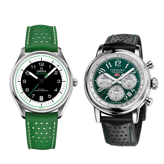 Green is the new blue : A new trend is making an expressive color statement on the wrist