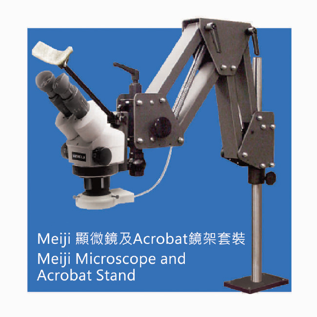 Meiji Microscope and Acrobat Stand